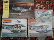 4 Flugzeug- Modelle Revell und