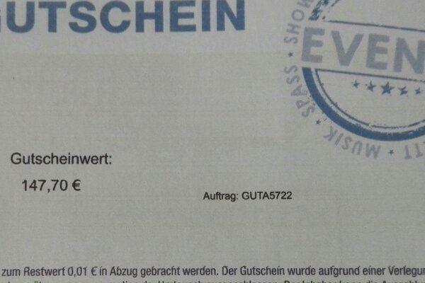 Ticket Gutschein