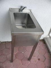 Edelstahl Anlehn-Waschbecken