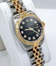 Rolex Datejust 179173 Schwarz SILVER
