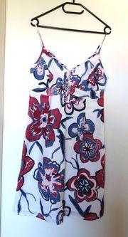 NEU weißesTrägerkleid mit Blumen Tom