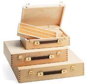 Malerkoffer aus schutzlasiertem Buchenholz 28