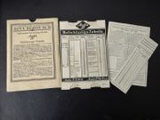 Original AGFA Belichtungs-und Blitzlicht-Tabelle Vintage