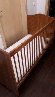 Kinderbett massivholz 70x140 mit Matratze