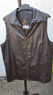 Exclusive Long-Weste im modischen Leder-Look