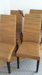 Esszimmerstühle Korbgeflecht 4 Stk