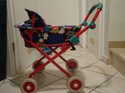 Puppenwagen klappbar höhenverstellbarer Griff