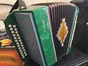 Knopfakkordeon Garmoschka russische Harmonika Naraz