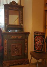 Garderobe 4 tlg mit Spiegel