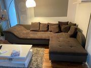 Eckcouch Couch Ottomane Sofa braun