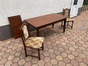 Tisch mit 6 Stühlen Wohnzimmer