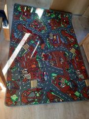 Kinderteppich Spielteppich Baustelle