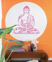 Buddha XXL Wandschablone Designschablone KREUL