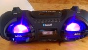AEG Ghettoblaster Bluethooth LED