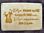 DIY Betondeko Schild Katze Sprüche