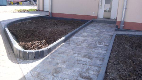 Pflastergestaltung Garten Terrasse Bagger Einfahrt