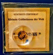 Die kleinste Goldmünze der Welt
