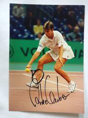2 Autogrammkarten Anke Huber Tennis