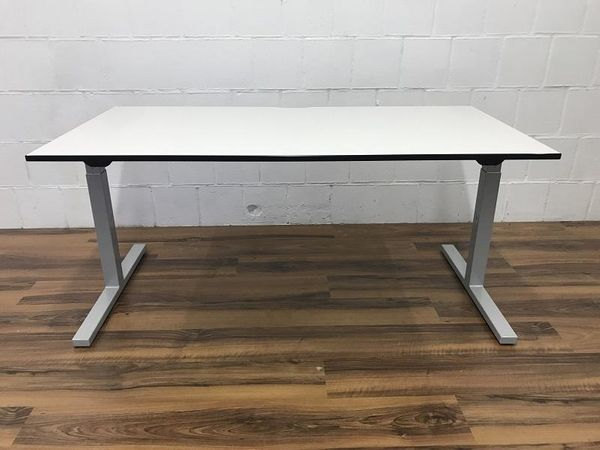 Schreibtisch mit Sitzhöhenverstellung 160x80