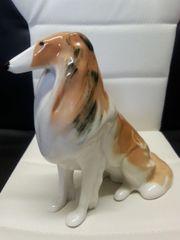 Porzellanfigur Hund Collie Russisches Porzellan
