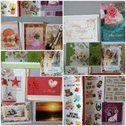 Karten und Sticker Glückwunsch