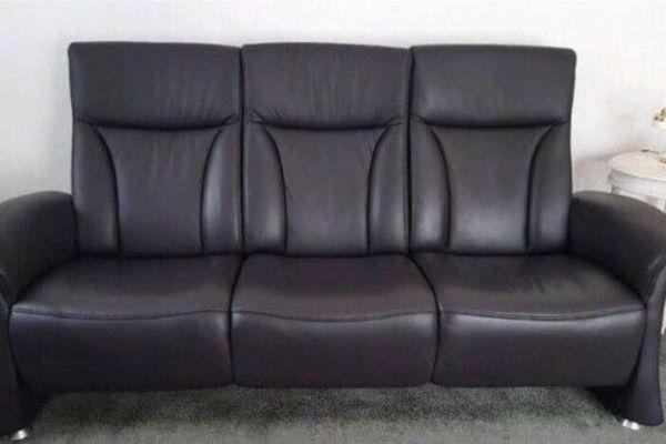 Couch-Ledercouch Sofa 3-Sitzer TOP von