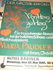 Paudler Musical Dresden 1947 Klein