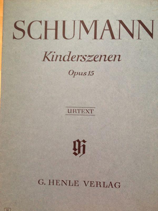 Klaviernoten Kinderszenen von Schumann