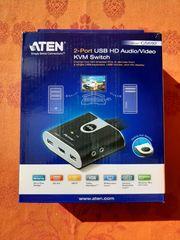 Computer-Umschalter 2-Port USB Audio Video