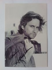 Michael Douglas Fotokarte mit rückseitiger