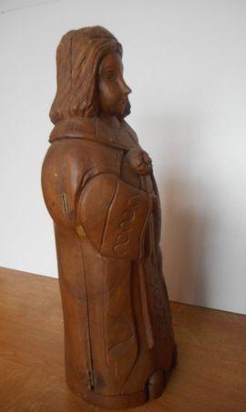 Bild 4 - seltene alte Holzfigur Unikat Vollholz - Neustadt Lachen-Speyerdorf