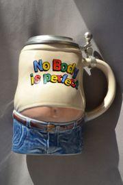 Verkaufe Bierkrug mit Zinndeckel im