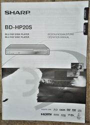 Bedienungsanleitung Sharp BD-HP20