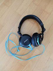 Sony DJ-Kopfhörer MDR-V55 schwarz - türkis
