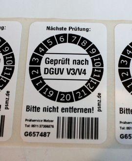 Bild 4 - DGUV Prüfetiketten individuell mit eigener - Hannover List