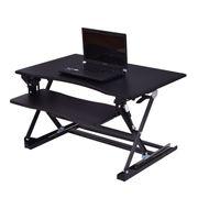 Sitz Steh-Schreibtisch Schreibtischaufsatz COSTWAY