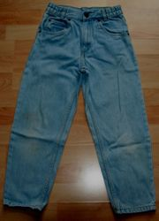Hell-blaue Jeans-Hose - Größe 128 - moderner Schnitt
