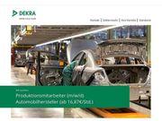 Produktionsmitarbeiter m w x Automobilhersteller