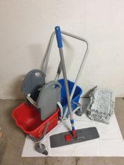 Komplett Set Putz-Reinigungswagen mit Presse -