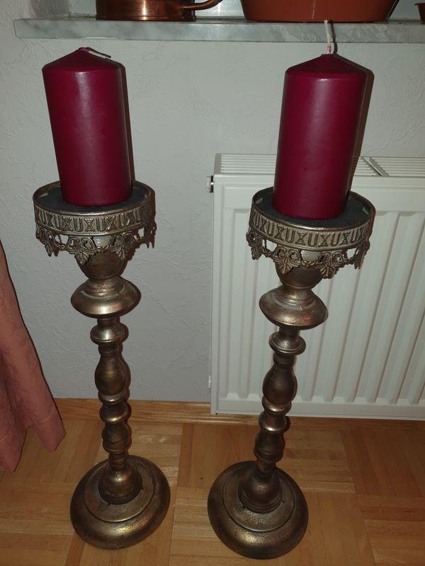 2 edle stylische Kerzenständer inkl
