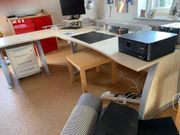 hochwertiger Schreibtisch mit Rollcontainer