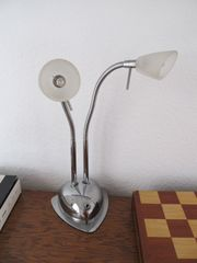 Nachttischlampe biegbar silbern