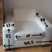 2 Sitzer Couch und 1