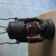 Militaria Petroleum Fahrrad Lampe mit