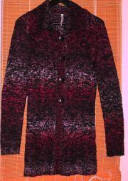 längere Wolljacke Gr S Farbverlauf