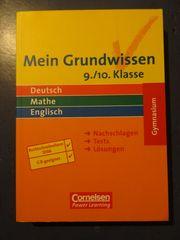 Mein Grundwissen - Deutsch Mathe Englisch