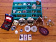 Mineraliensammlung Amethyst Bergkristall etc