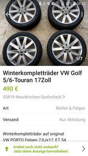 Winterkompletträder 17Zoll Golf 5 6