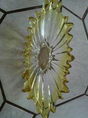 Schöne Obstschale glas