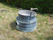 Kupfer-Waschkessel mit Einsatz